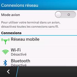 BlackBerry Q10 - Internet et roaming de données - Désactivation du roaming de données - Étape 5