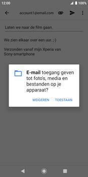 Sony xperia-xz2-h8216-android-pie - E-mail - Bericht met attachment versturen - Stap 11