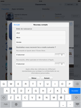 Apple iPad mini iOS 7 - Applications - Configuration de votre store d