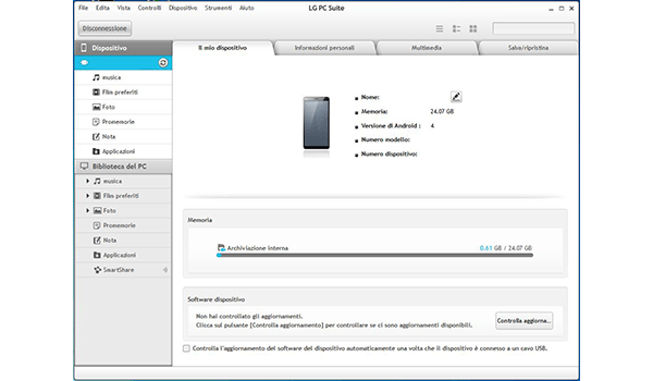 LG G3 - Software - Come eseguire un backup del dispositivo - Fase 5