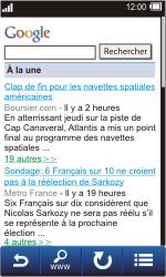 Sony TXT Pro - Internet - Navigation sur Internet - Étape 8