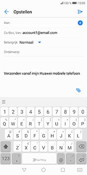 Huawei P Smart (Model FIG-LX1) - E-mail - Bericht met attachment versturen - Stap 5