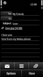Nokia 500 - Email - Sending an email message - Step 12