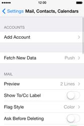 Apple iPhone 4S iOS 7 - E-mail - manual configuration - Step 8