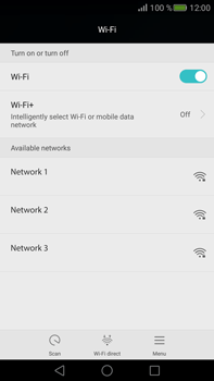 Huawei Mate S - Wi-Fi - Connect to Wi-Fi network - Step 5