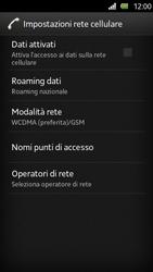 Sony Xperia U - Rete - Selezione manuale della rete - Fase 6