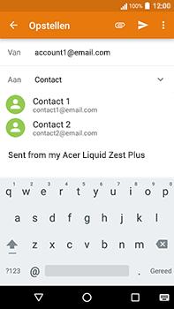 Acer Liquid Zest 4G Plus - E-mail - E-mails verzenden - Stap 6