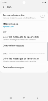 Samsung Galaxy Note10 - SMS - Configuration manuelle - Étape 10