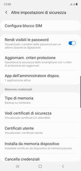 Samsung Galaxy Note 10 - Operazioni iniziali - Come abilitare il pin della SIM - Fase 6