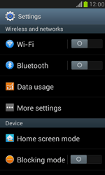 Samsung Galaxy S III Mini - Internet and data roaming - How to check if data-connectivity is enabled - Step 4