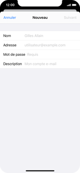 Apple iPhone X - iOS 13 - E-mail - configuration manuelle - Étape 7