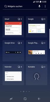 Samsung Galaxy S8 - Android Oreo - Startanleitung - Installieren von Widgets und Apps auf der Startseite - Schritt 4
