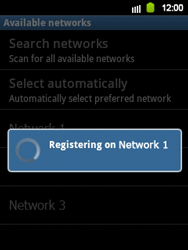 Samsung Galaxy Y - Network - Manual network selection - Step 10