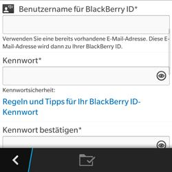 BlackBerry Q5 - Apps - Konto anlegen und einrichten - 2 / 2