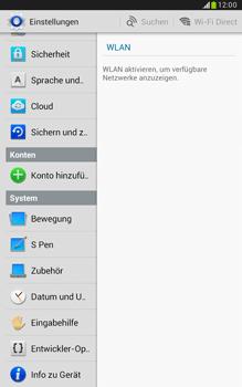 Samsung Galaxy Note 8-0 - Fehlerbehebung - Handy zurücksetzen - 6 / 11