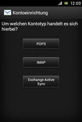 Sony Xperia Miro - E-Mail - Konto einrichten - Schritt 6
