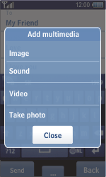 Samsung S8500 Wave - MMS - Sending pictures - Step 12