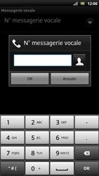 Sony LT22i Xperia P - Messagerie vocale - configuration manuelle - Étape 8