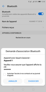 Huawei Y7 (2018) - Bluetooth - Jumelage d