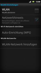 Sony Xperia Sola - WLAN - Manuelle Konfiguration - Schritt 6