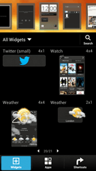 HTC One X Plus - Getting started - Installing widgets and applications on your start screen - Step 6