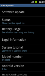 Samsung Galaxy S Advance - Software - Installing software updates - Step 6
