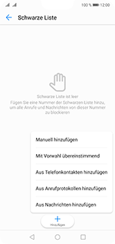 Huawei P20 Lite - Anrufe - Anrufe blockieren - Schritt 8