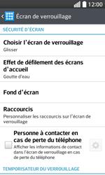 LG F70 - Sécuriser votre mobile - Activer le code de verrouillage - Étape 6