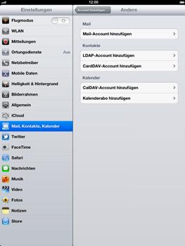 Apple iPad 3 - E-Mail - Konto einrichten - Schritt 6