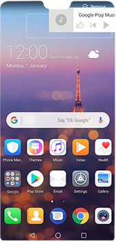Huawei P20 Pro - Getting started - Installing widgets and applications on your start screen - Step 11