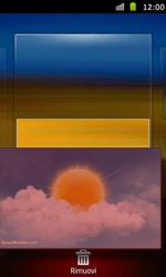 Samsung Galaxy S Advance - Operazioni iniziali - Installazione di widget e applicazioni nella schermata iniziale - Fase 7