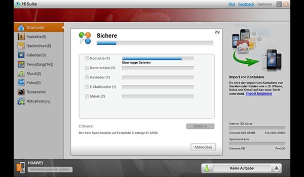 Huawei Ascend P6 - Software - Eine Sicherungskopie des Geräts erstellen - Schritt 7