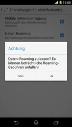 Sony Xperia Z1 - Ausland - Im Ausland surfen – Datenroaming - Schritt 9