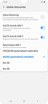 Samsung Galaxy A50 - Netzwerk - So aktivieren Sie eine 4G-Verbindung - Schritt 7