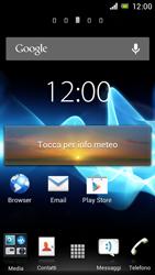 Sony Xperia J - Operazioni iniziali - Installazione di widget e applicazioni nella schermata iniziale - Fase 7