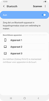 Samsung galaxy-note-9-sm-n960f-android-pie - Bluetooth - Headset, carkit verbinding - Stap 7