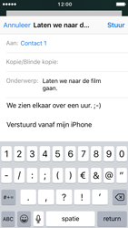 Apple iPhone 5 met iOS 10 (Model A1429) - E-mail - Hoe te versturen - Stap 8
