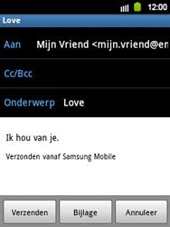 Samsung S5360 Galaxy Y - E-mail - E-mail versturen - Stap 8