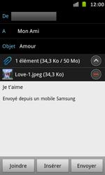 Samsung I9070 Galaxy S Advance - E-mail - envoyer un e-mail - Étape 12