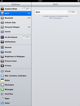 Apple iPad mini - Internet and data roaming - Disabling data roaming - Step 3
