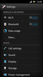 Sony Xperia U - Network - Manual network selection - Step 4