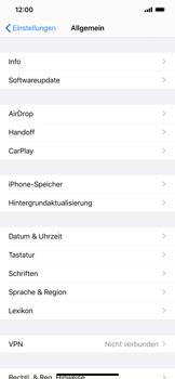 Apple iPhone XS Max - iOS 13 - Startanleitung - So fügen Sie eine Tastatursprache hinzu - Schritt 4