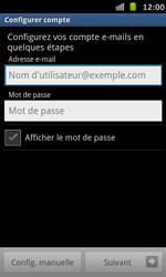Samsung Galaxy S Advance - E-mail - Configuration manuelle - Étape 5