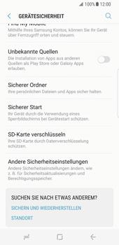 Samsung Galaxy S8 - Datenschutz und Sicherheit - PIN-Code der SIM-Karte ändern - 5 / 12