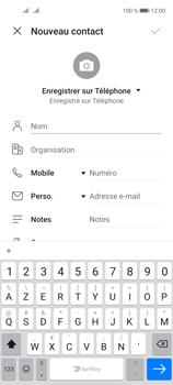 Huawei P40 Lite 5G - Contact, Appels, SMS/MMS - Ajouter un contact - Étape 6