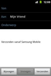 Samsung S7500 Galaxy Ace Plus - E-mail - Hoe te versturen - Stap 8