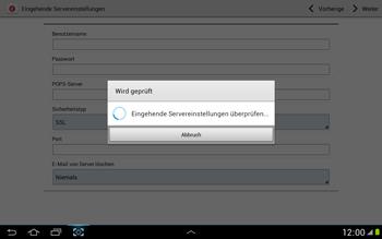Samsung N8000 Galaxy Note 10-1 - E-Mail - Konto einrichten - Schritt 10