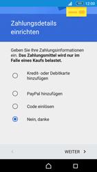 Sony E5603 Xperia M5 - Apps - Konto anlegen und einrichten - Schritt 19