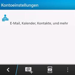 BlackBerry Q10 - E-Mail - Konto einrichten - Schritt 5