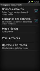 Sony Xperia J - Internet et roaming de données - Désactivation du roaming de données - Étape 6